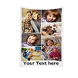 JINFU Fotodecke mit eigenem Foto | Decke selbst gestalten | Decke Bedrucken Lassen mit Wunsch-Motiv,Personalisierte Decke mit Foto,Decke mit Namen (200x150cm)