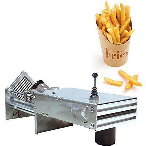 YUQIYU Máquina de corte de patatas franjas cortadoras cortadoras cortadoras de acero inoxidable fritas de acero inoxidable cortadores (Color : 7mm Blade)