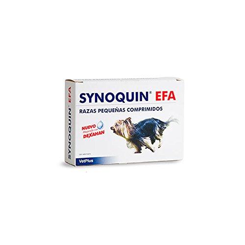 VetPlus Synoquin EFA Envase con 90 Comprimidos de Suplemento para Perros Razas Pequeñas
