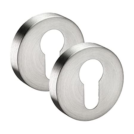 UK Quality Lock Key Hole Cover Chubb Covered Escutcheon Satin Stainless Steel