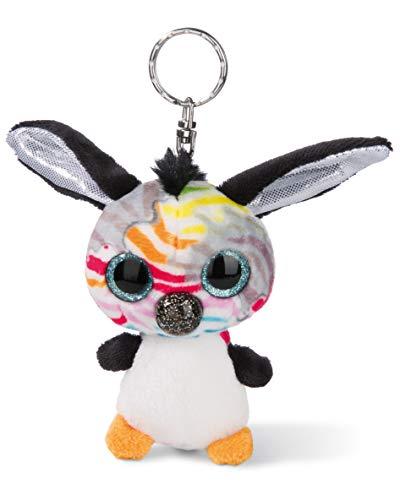 NICI 45288 NICIdoos Baby-Zebra 9cm Schlüsselanhänger, Plüschtier mit Schlüsselring, bunt