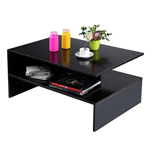 Tavolino da Salotto con ripiano Blackpoolal 90 cm Colore: Nero