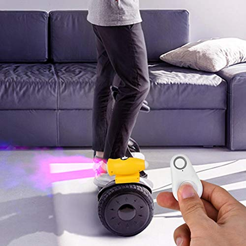 Rociador de música para scooter, rociador de luz musical de 2 piezas de alta calidad, para scooter autoequilibrado, equilibrio, scooters(yellow)