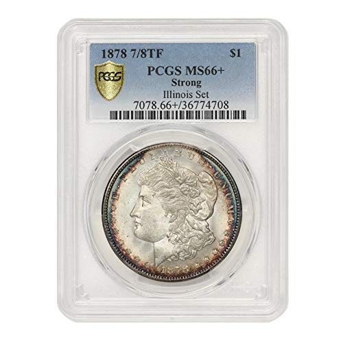 1878 7/8 TF Strong American Silver Morgan Dollar MS-66+ Illinois Set by CoinFolio $1 MS66+ PCGS