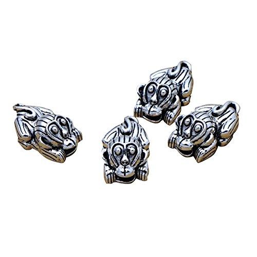 Plata de Ley Mono Bead, plata 925Mono pulsera, cuentas, collar Bead, mono moneda Bead