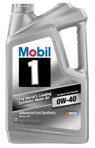 Mobil 1 (14520-4PK) 0W-40 Synthetic Motor Oil - 5.1 Quart, (Pack of 4)