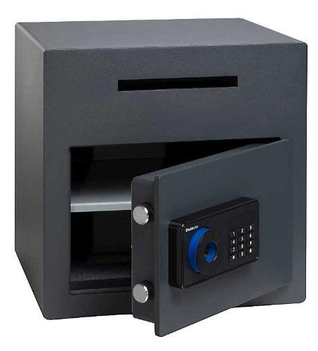 ALD41 - 2E CHUBBSAFES Tresor Elektronikschloss SIGMA DEPOSIT £1K Geldkassette bewertet 8 mm Stahl Tür BOLTWORK & 39 Liter SLOT zum Schutz des Schlosses 27 kg