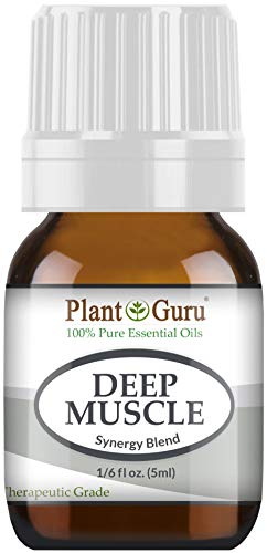 Deep Muscle Essential Oil Blend 5 ml 100% Pure, Undiluted, Therapeutic Grade. Great for Joint, Neck, Back, Spasms, Stiffness, Sore Muscle Pain.