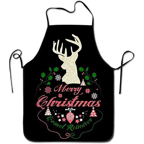 Niet te gebruiken keukenschorten, voor de keuken, voor vrouwen, leuke jurk, mannen Pinafore Comet Reindeer Merry Christmas Instelbare kookschort, keukenschort, unisex