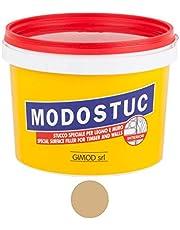 Originele MODOSTUC houten stopverf - 1 kg gebruiksklare vulmassa voor hout & muur, houtvuller, perfecte kleefkracht & sneldrogend, ideaal voor het herstellen van houtschade, kleur eik.