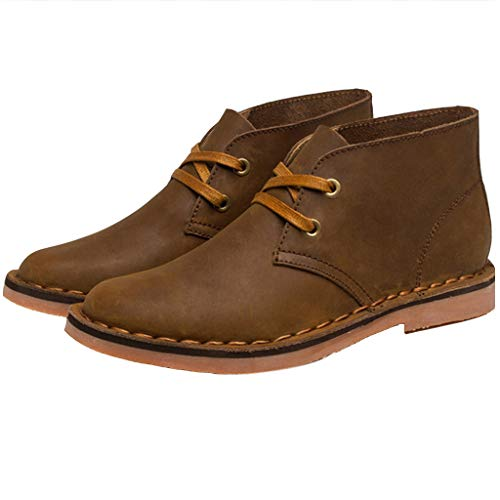 Mens Desert Boots Distressed Leather Classic Boot 2 Oogje Chukka Laarzen Vier Seizoenen Universele Lace Up Work Laarzen