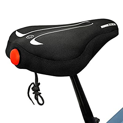 MOMODESIGN Bike ? Bike Gel Seat Cushion with Light ?Comfort and Visibility