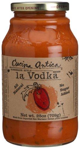 Cucina Antica - La Vodka Pasta Sauce - 25oz (Pack of 6) - Gluten Free (Glass Jars)