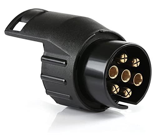 Adaptador Remolque de 7 a 13 Pines 12V Conversor eléctrico Remolque/Caravana/Enchufe de Remolque Auto/Carro