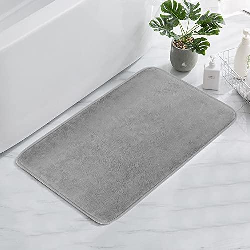 AVNICUD Memory Badematte rutschfest, Waschbare Weiche Badematte, Effiziente Saugfähige Badeteppich (grau, 50 * 80cm)