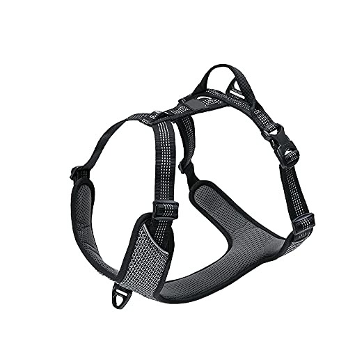 YODZKJ Arnés Ajustable Sin Tirón para Perros Mascota Transpirable Pecho Acolchado Malla Reflectante Fácil Control Entrenamiento para Caminar Al Aire Libre Perro Mediano Grande
