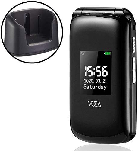 VOCA V540 2.8' 4G Telefono Cellulare per Anziani con Tasti Grandi Clamshell Sbloccato SIM-Free Senior Flip cellulare, Funzione SOS