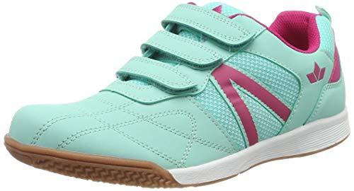 Brütting Unisex - Kinder Halbschuhe First Indoor V, lose Einlage, Freizeit leger Kids junior Kleinkinder Kinder-Schuhe,türkis/pink,33 EU