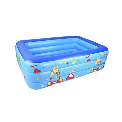 Agua Al Aire Libre Natación Play Fun Center Toys Dibujos Animados Inflable PVC Piscina Bañera De Baño para Niños Niños Familia Verano (Color : 210CM)
