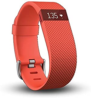 Fitbit Charge HR Wireless Activity Wristband (Tangerine, Small (5.4 - 6.2 in))