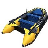 Fnho Lancha motora Kayak,Bote Inflable de Pesca Engrosado,Bote de perforación Bote de Goma, Bote Inflable de PVC (357 x 170 cm)