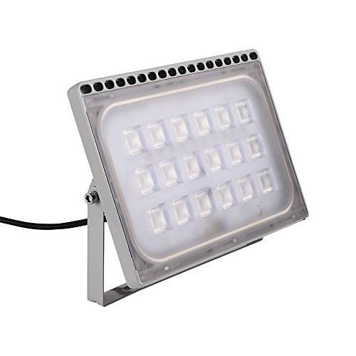 Yuanline Projecteur LED Extérieur 10W 20W 30W 50W 100W 150W 200W 300W Spot ultra-mince Blanc Froid Phare Intérieur et Extérieur Imperméable IP67 pour Jardin Cour Terrasse Square Usine (100W)