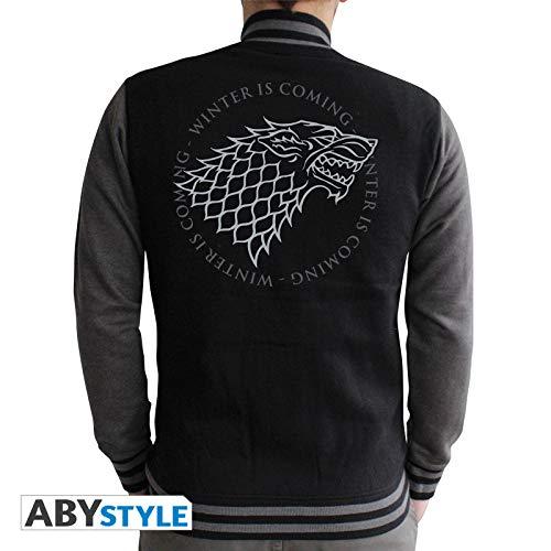 ABYstyle - Il Trono di Spade - Felpa - Stark - uomo - nero / grigio scuro (L)