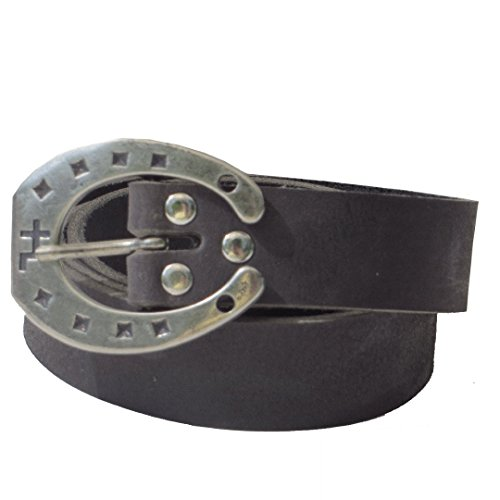 schwarzer Ledergürtel 4cm breit Büffelleder aus eigener Fertigung (95)