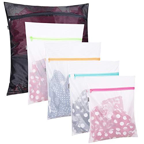 Eono by Amazon - Mesh Wäschesäcke für Waschmaschine Wäschenetz Wäschetasche Wäschebeutel Laundry Bag für Empfindliches, Bluse, Schuhe, BH, Unterwäsche, Babykleidung, Wash Bag, 5 Set