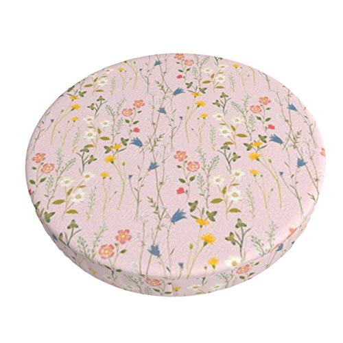 Round Bar Stools Cover,Verträumtes Blumenmuster,Stretch Chair Seat Bar Stool Cover Seat Cushion Slipcovers Chair Cushion Cover Round Lift Chair Stool