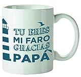 Kembilove Tazas de Desayuno Originales para Padres – Taza con Mensaje Tu Eres mi Faro, Gracias Papá – Taza de Desayuno para Regalar el día del Padre – Tazas de Café para Padres y Abuelos