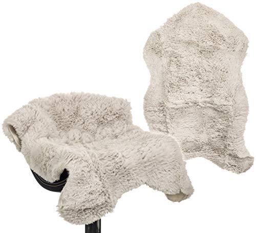 Brandsseller Teppich Lammfell-Optik Kunstfell Lammfellteppich Lammfellauflage Läufer ca. 60 x 90 cm (ca. 60 x 90 cm, Taupe-Grau)