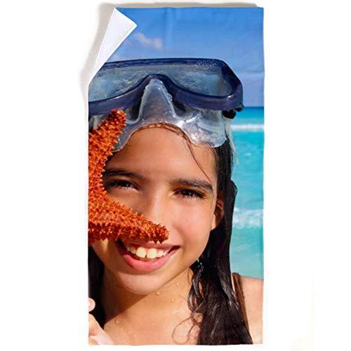 Getsingular Toalla Personalizada con Tus Fotos y Texto | Toalla de Microfibra y Algodón Toalla Deportiva y para Playa | Tamaño 50x100 cm