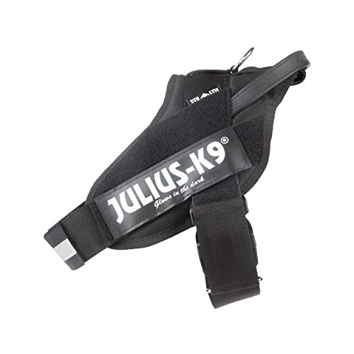 Julius-K9 16STEALTH-P-2 IDC Stealth Powerharness for Dogs, Size 2, Black