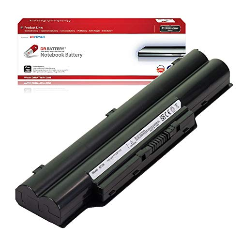 Dr. Battery Laptop Battery for Fujitsu Lifebook AH572 A561 E741 E751 E752 E782 L1010 LH700 P701 P770 P771 P8110 S710 S751 S760 S761 FMVNBP146 FPCBP145AP FPCBP219 [10.8V/4400mAh/48Wh]