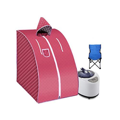 Upupto Tragbare Dampfsauna mit Faltstuhl Home Dampf Sauna US EU-Stecker 1000W 2L Dampfbad Leichtigkeit Schlaflosigkeit Edelstahl Rohrstütze