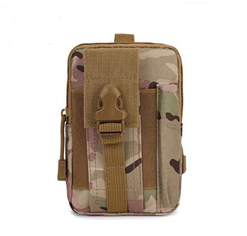FLLH Sac de Tactique des Sports multifonctionnelle Hommes Courir Portable accroché Bagages Alpinisme Taille Pack Camouflage
