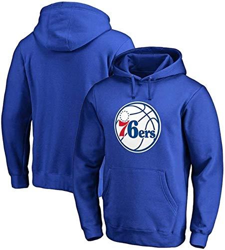 HCMNMW Sudadera con Capucha NBA Sudadera con Capucha de la NBA, Sudadera con Capucha de los Hombres Philadelphia 76ers Pullover Sudadera Suelta Camiseta de la Camiseta (Tamaño: XX-Large) - Unisex