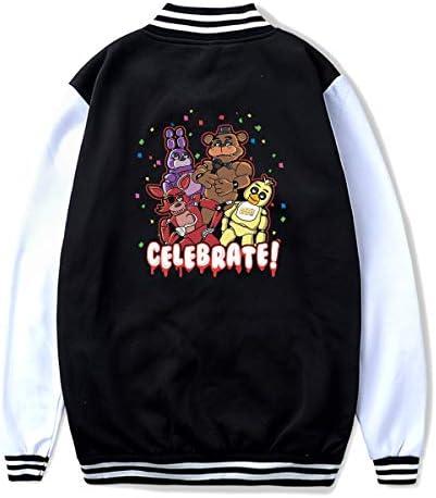 Riverccc6 1500 FNAF Celebrate Let s Party Youth Baseball Uniform Sweatshirts Sport Jacket Black product image