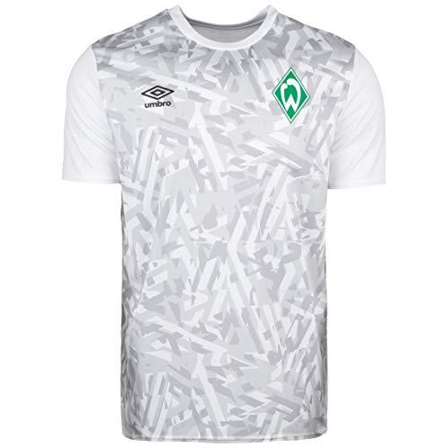 UMBRO SV Werder Bremen Warm Up Trainingsshirt Herren weiß/hellgrau, 3XL