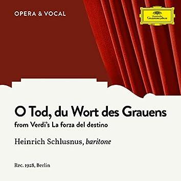 Verdi: La forza del destino: O Tod, du Wort des Grauens (Sung in German)