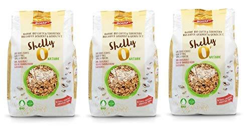 Bossy Cereals Shelly'O Nature Müsli I bio-zertifizierte Mischung I Bio Crunchy Müsli I Müsli ohne Zucker I Gesundes Müsli