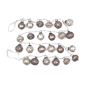 """Creative Co-Op XM1420 Silent Night 72"""" L Mercury Glass Ornament Garland, White/Grey At Creative Co-Op, passion is at the heart of all we do - passion for Product, passion for quality, and passion for customer success. It is this passion that grew a c..."""