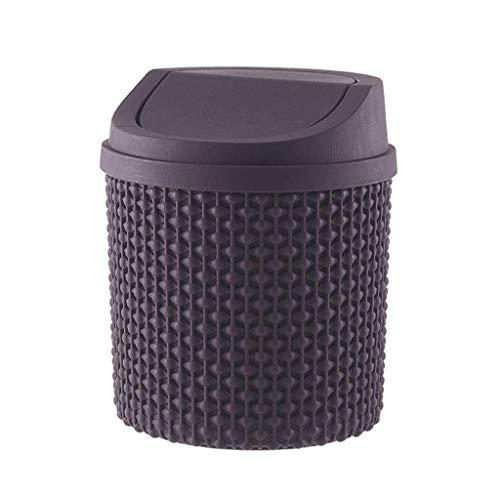 SDHKE Poubelle en Plastique Can for Les espaces à la Maison ou déchets avec Couvercle