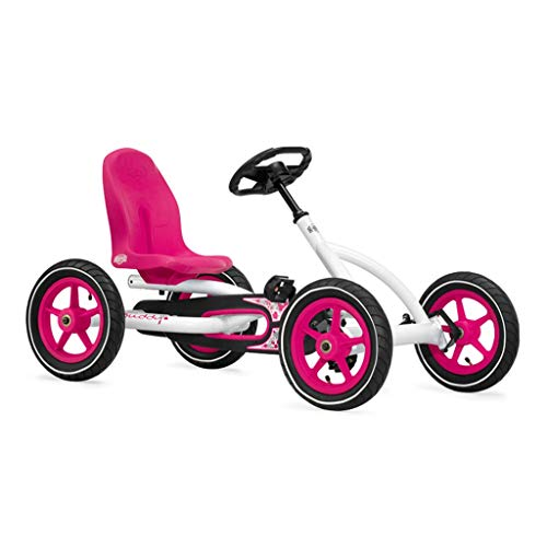 Toys & Games/Tricycles, Scooters & Wagons/Peda Pink Princess Kart Four-Wheeled Kart Toy Stroller Racing Steering Wheel Design Seat 3 Adjustable, Best Gift (Color : Pink, Size : 1156563cm)