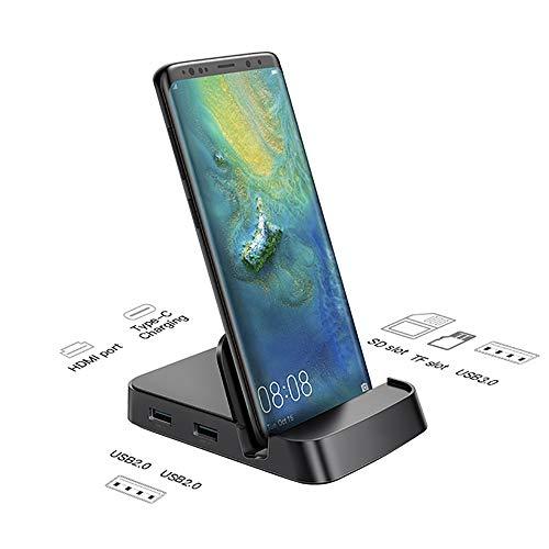 WYP Estación De Acoplamiento USB HUB Tipo C para Samsung S10 S9 Dex Pad Station Adaptador De Corriente USB-C A HDMI Dock para Huawei P30 P20 Pro