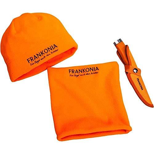 Frankonia Drückjagd-Set: Messer, Fleece-Mütze und -Schal