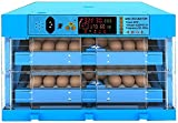 N&W Fully Automatic Incubator 128 Eggs Household Adjustable Hatcher Machine Temperature Automatic Egg Turning for Chicken Eggs Duck Eggs Pigeon Eggs (Types : Single Power Supply)