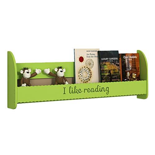 Estante para Libros Montado en la Pared Estantería Estantería de Pared de usos múltiples for Book CD DVD Almacenamiento y visualización Librero (Color : Green, Size : 100cm)