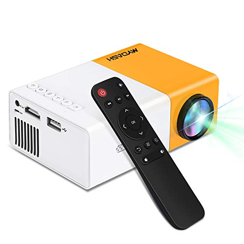 Mini Projector,MYDASH Portable Projector for Cartoon,Small Gathering Outdoor Movie Home Theater with 30000 Hours LED Life Time,Compatible with TV Stick,PS4,HDMI,VGA,TF,AV and USB